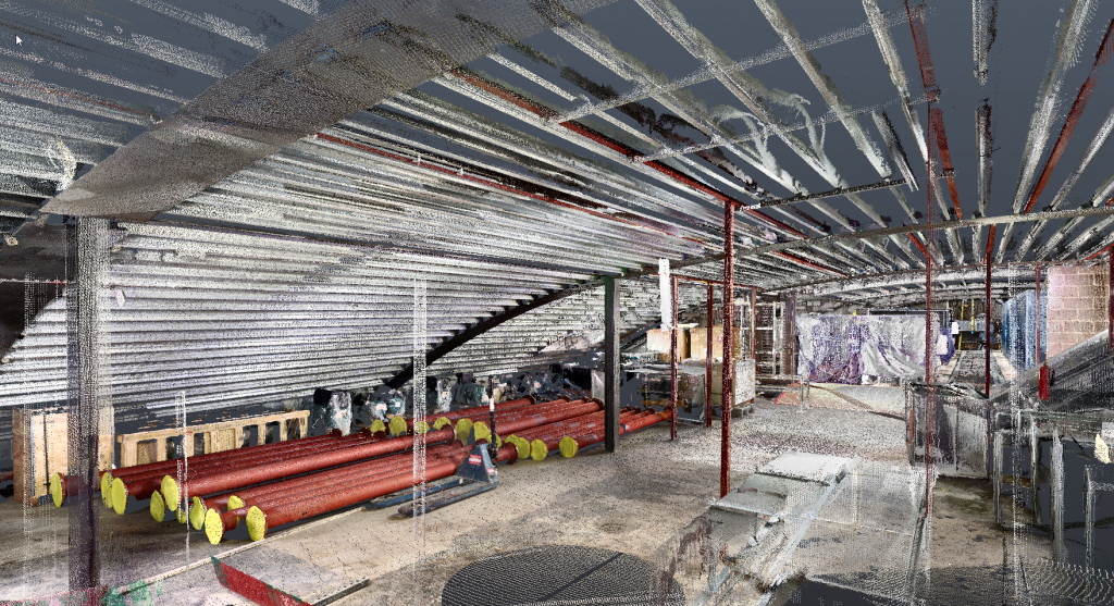 Point cloud scan of an area CAD SERVICES